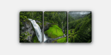 3 Panel CSS 3D Picture Canvas Mockup