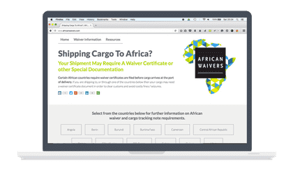 african waivers homepage