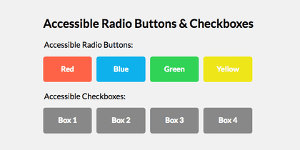 How I build accessible checkboxes
