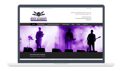manchester rock academy homepage