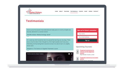 science communicated testimonials design